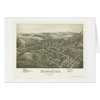 Mannington, WV Panoramic Map - 1897 Card