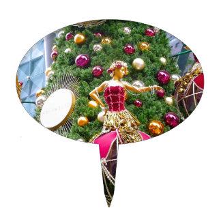 Manniquins del árbol de navidad figura de tarta