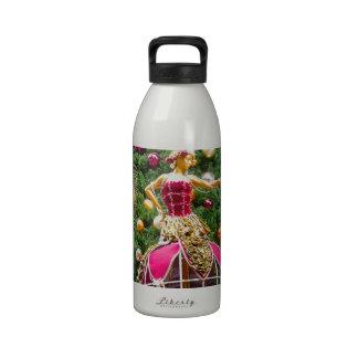 Manniquins del árbol de navidad botellas de beber
