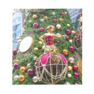 Manniquins del árbol de navidad bloc de notas