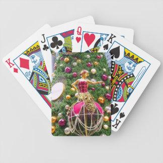 Manniquins del árbol de navidad barajas de cartas