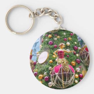 Manniquins del árbol de navidad llaveros personalizados