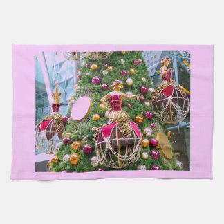 Manniquins del árbol de navidad toallas de mano