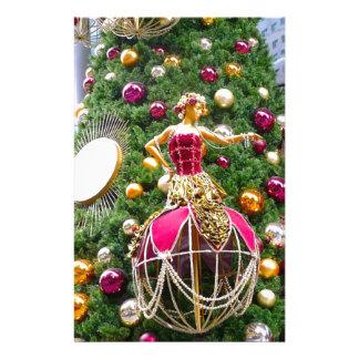 Manniquins del árbol de navidad  papeleria de diseño