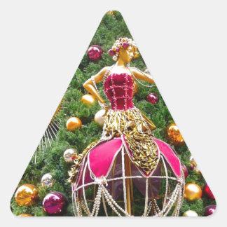 Manniquins del árbol de navidad colcomanias triangulo