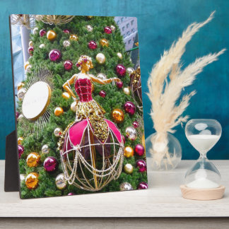 Manniquins del árbol de navidad placa de madera