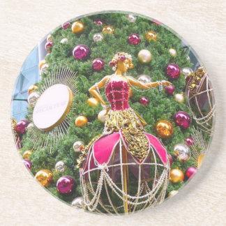 Manniquins del árbol de navidad posavaso para bebida