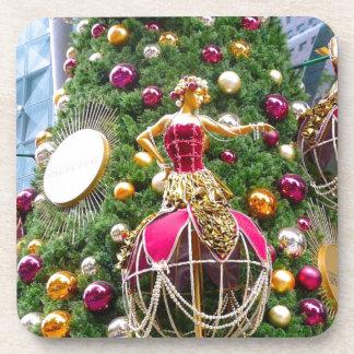 Manniquins del árbol de navidad posavasos