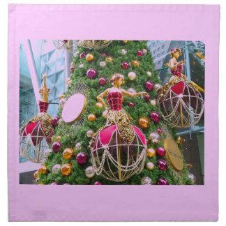 Manniquins del árbol de navidad servilleta de papel