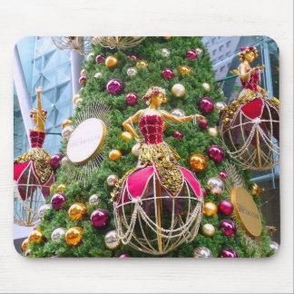 Manniquins del árbol de navidad tapete de raton