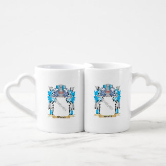 Manns Coat of Arms - Family Crest Couple Mugs