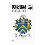 Mannucci Family Crest Postage Stamp