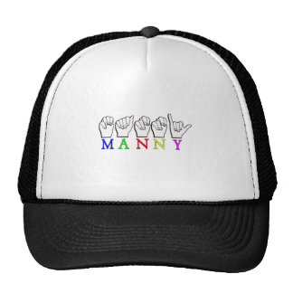 MANNY    ASL FINGER SPELLED TRUCKER HAT