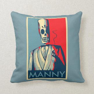 Manny Calavera Throw Pillow