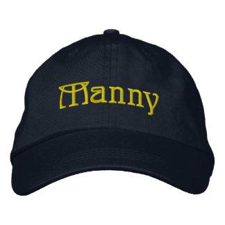 MANNY Given Name Designer Cap