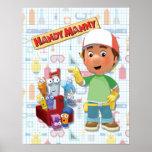 Manny práctico y sus herramientas que hablan póster