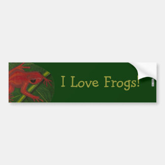 Manny The Mantella (Frog) Bumper Stickers