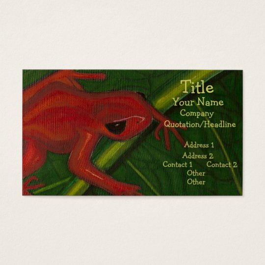 Manny The Mantella (Frog) Business Card