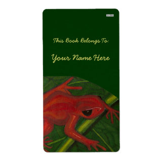 Manny The Mantella (Frog) Personalized Shipping Label