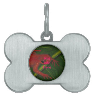Manny The Mantella (Frog) Pet ID Tags