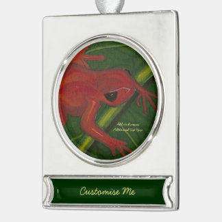 Manny The Mantella (Frog) Silver Plated Banner Ornament