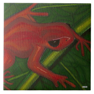 Manny The Mantella (Frog) Tile