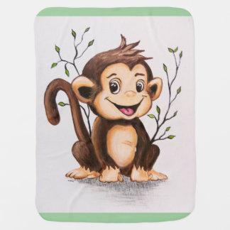 Manny the Monkey Stroller Blanket