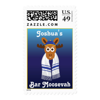 Manny The Moose Head_Bar Moosevah_personalized Stamp