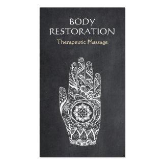 Mano 1 del tatuaje de Lotus de la alheña del Tarjetas De Visita