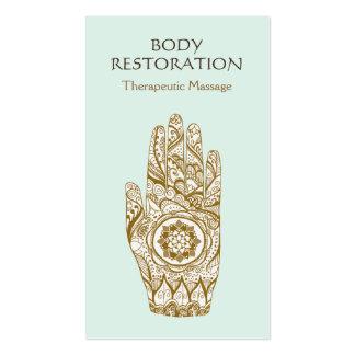 Mano 2 del tatuaje de Lotus de la alheña del Tarjetas De Visita