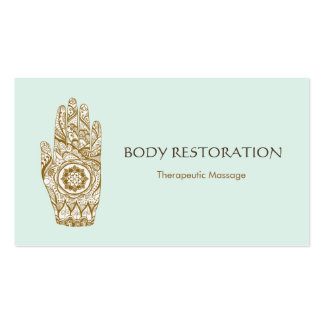 Mano 5 del tatuaje de Lotus de la alheña del Tarjetas De Visita