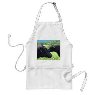 Mano-a-mano de la vaca delantal