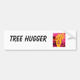 mano, árbol Hugger Etiqueta De Parachoque