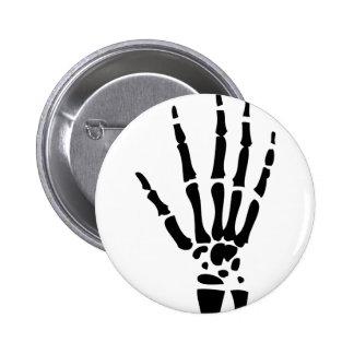 mano asustadiza Halloween del hueso Pin