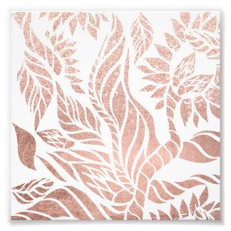 Mano botánica del oro color de rosa geométrico fotografías