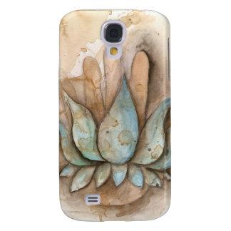 Mano curativa azul de Lotus Funda Para Galaxy S4
