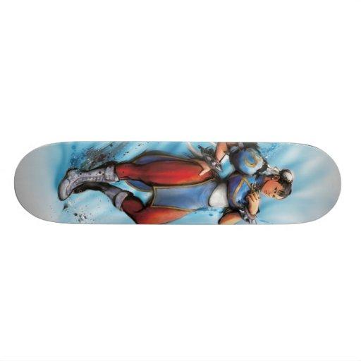 Mano de Chun-Li en cadera Skateboard