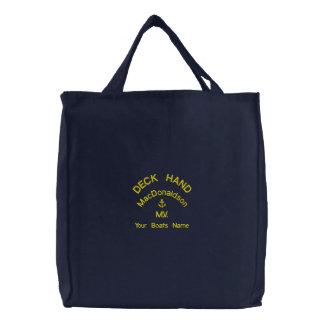 Mano de cubierta y nombre personalizados de los bolsa de lienzo