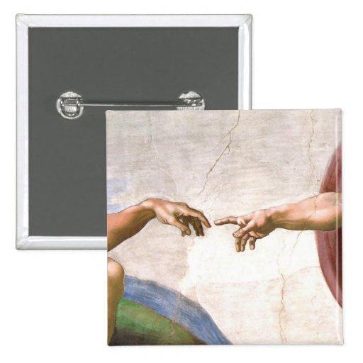 Mano de dios de Miguel Ángel Pin Cuadrada 5 Cm
