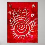 Mano de Fátima - manos curativas con amor Posters