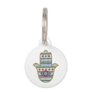Mano de HAMSA del amuleto del símbolo de Fátima, Identificador Para Mascota