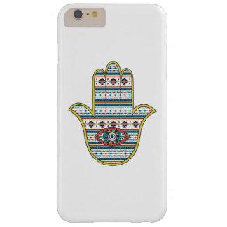 Mano de HAMSA del amuleto del símbolo de Fátima, Funda De iPhone 6 Plus Barely There