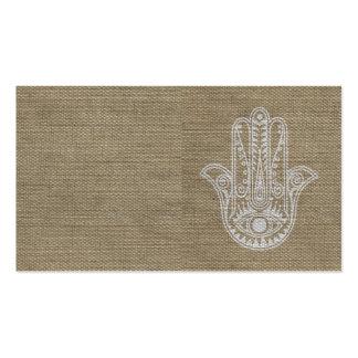 Mano de HAMSA del amuleto del símbolo de Fátima Tarjetas De Visita