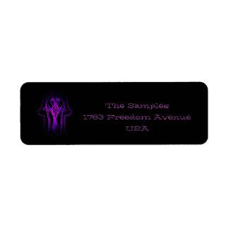 Mano de Hamsa del Celtic (púrpura) Etiquetas De Remite