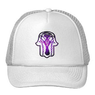 Mano de Hamsa del Celtic (púrpura) Gorras De Camionero