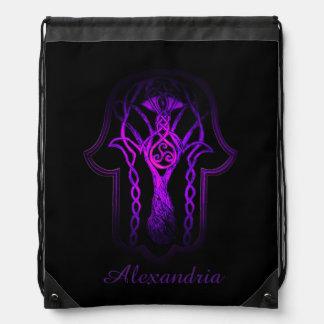 Mano de Hamsa del Celtic (púrpura) Mochila