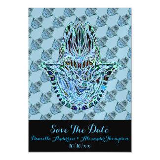 Mano de Hamsa del mosaico Invitaciones Magnéticas
