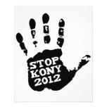 Mano de José Kony de la parada de Kony 2012 Tarjeta Publicitaria