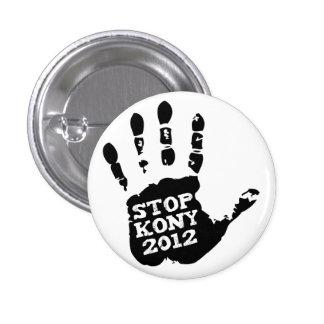 Mano de José Kony de la parada de Kony 2012 Pins
