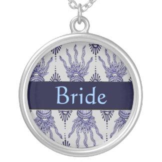 Mano de la alheña (azul) (boda) colgante personalizado